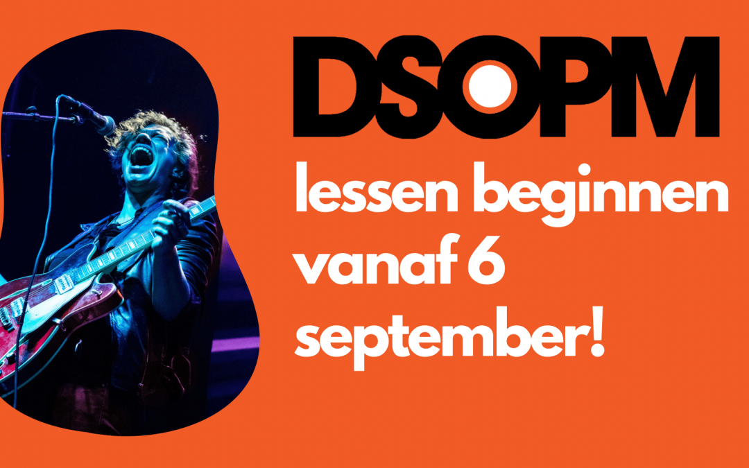 De lessen gaan vanaf 6 september van start!