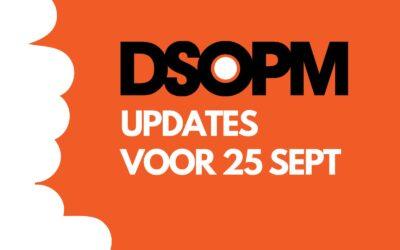 DSOPM updates 25 september